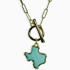 Texas Necklace | Gold+Turquoise