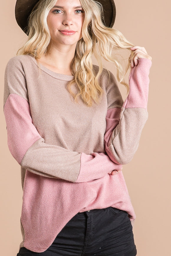 Blush Chevron Top