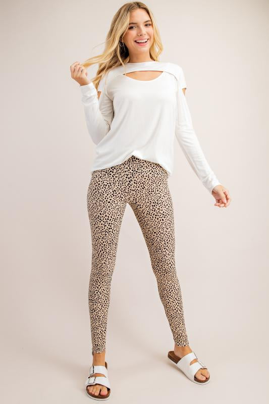 Taupe Cheetah Leggings