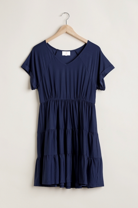 Navy Babydoll Dress