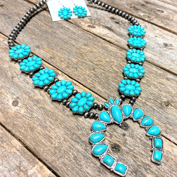 Cactus Blossom Western Set | Turquoise+Silver