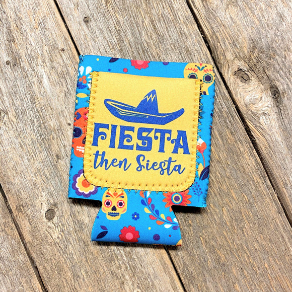 Fiesta Then Siesta Koozie with Pocket!