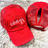 Coogs Embroidered Ponytail Caps