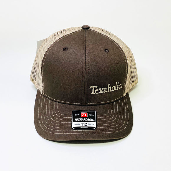 Texaholic Trucker Cap | Brown+Beige