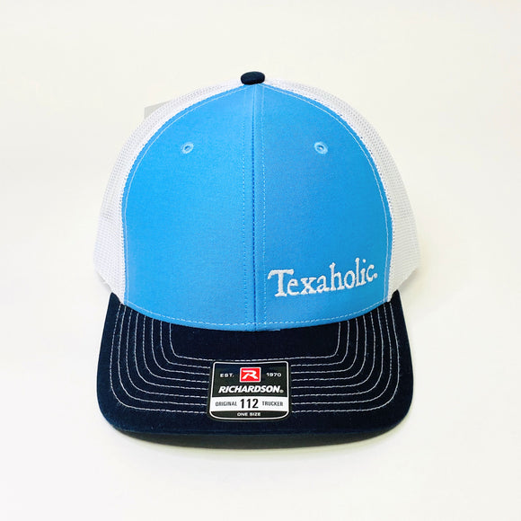 Texaholic Trucker Cap | Light Blue+Navy+White
