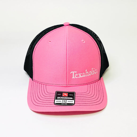 Texaholic Trucker Cap | Pink+Black