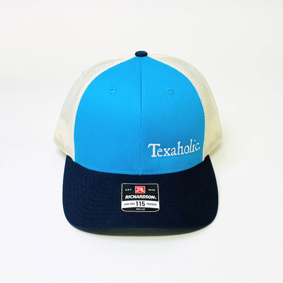 Texaholic Trucker Cap | Teal+Navy+Cream
