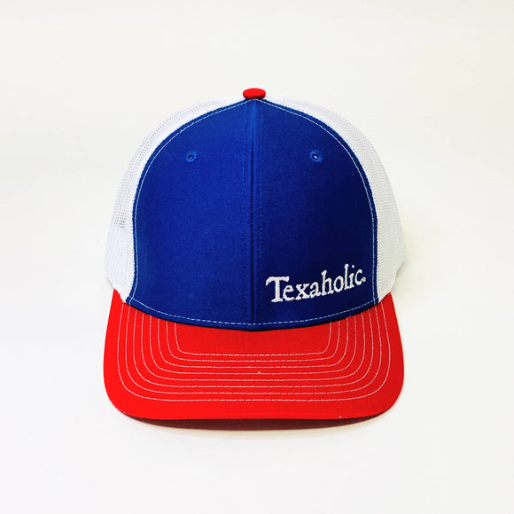 Texaholic Trucker Cap | Blue+Red+White