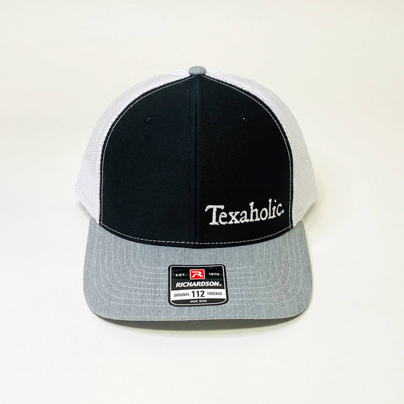 Texaholic Trucker Cap | Black+Grey+White