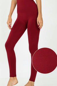 High Waist Leggings | Cabernet