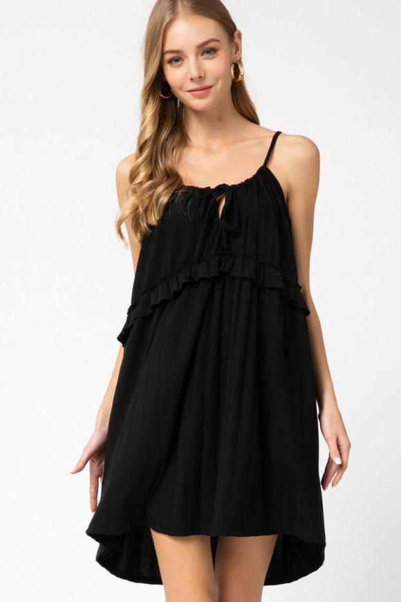 Frill Dress | Black