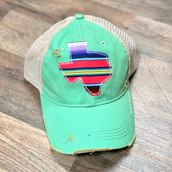 Mint Dirty Trucker Cap | Texas Serape