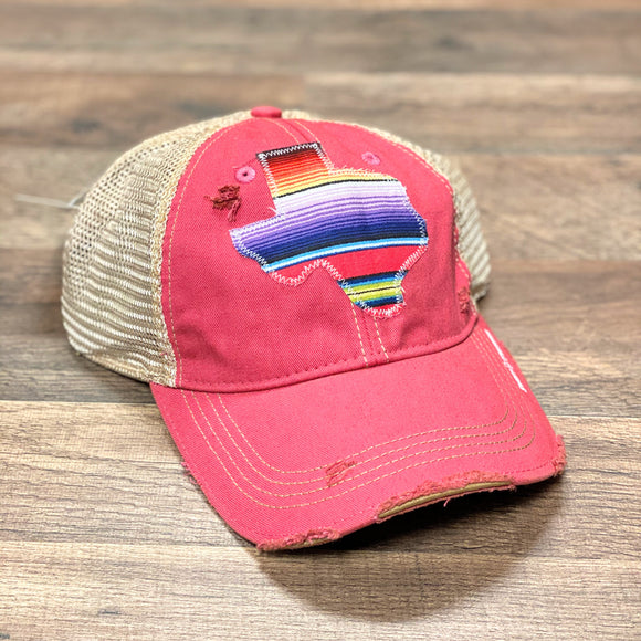 Pink Dirty Trucker Cap | Texas Serape