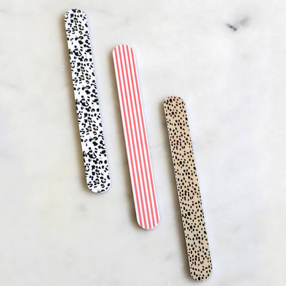 Leopard Nail File Set