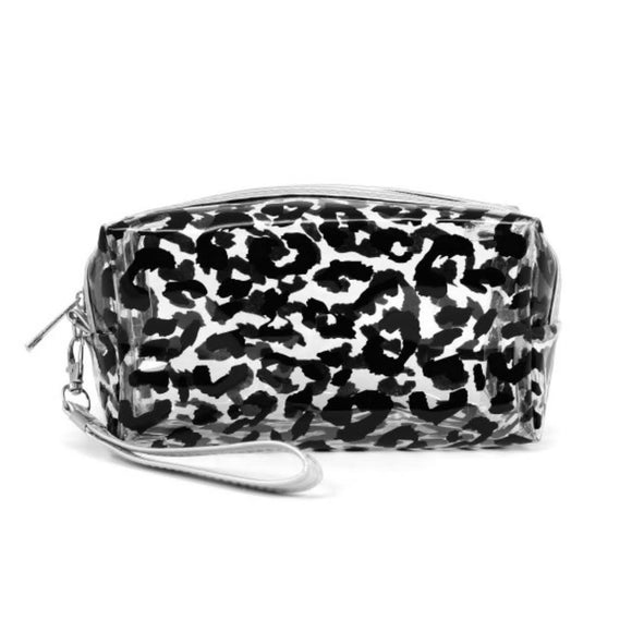Clear+Black Leopard Cosmetic Bag