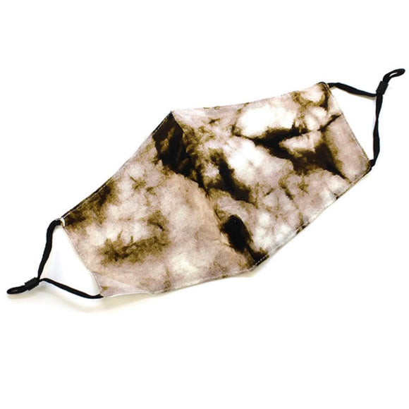 Adjustable Mask | Beige Tie Dye