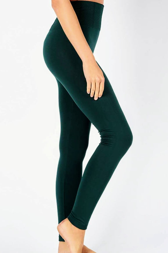 Fleece Lined Leggings | Hunter Green