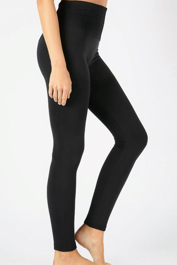 Fleece Lined Leggings | Black