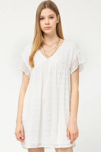Swiss Dot Babydoll Dress | Off White