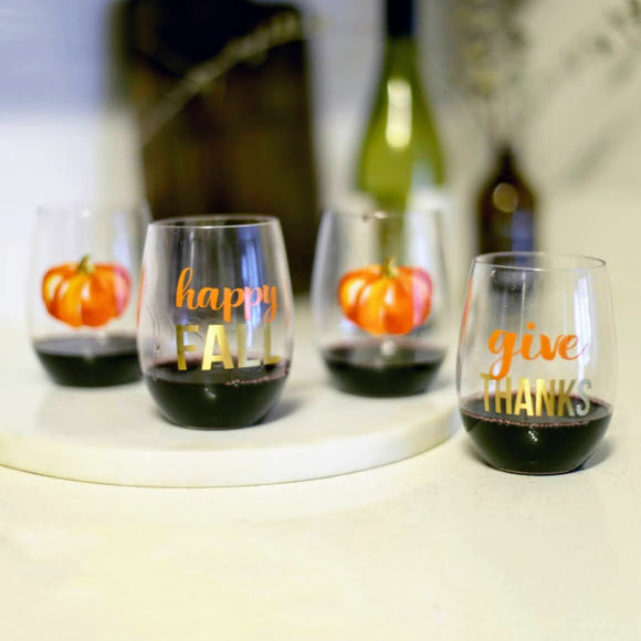 GIVE THANKS | To Go Wine Glasses