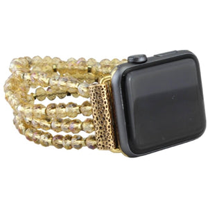 42/44MM Beaded Watch Band | Champagne+Gold