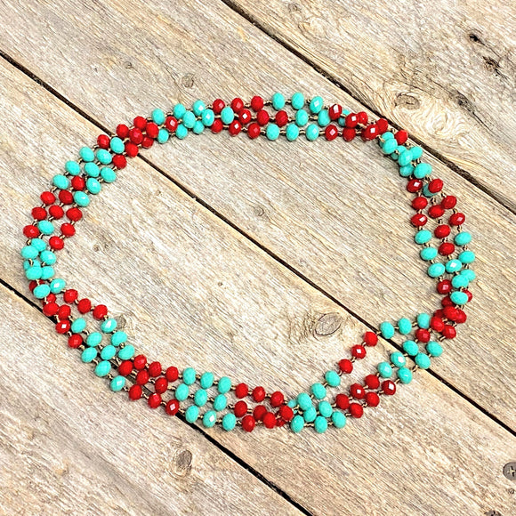 Turquoise + Red