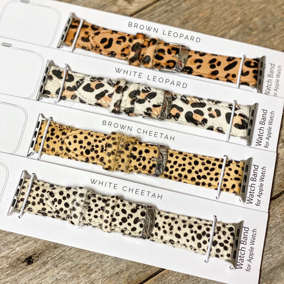 Animal Print Apple Watch Bands | Genuine Leather
