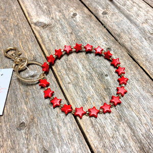 Star Bangle Key Ring | Red