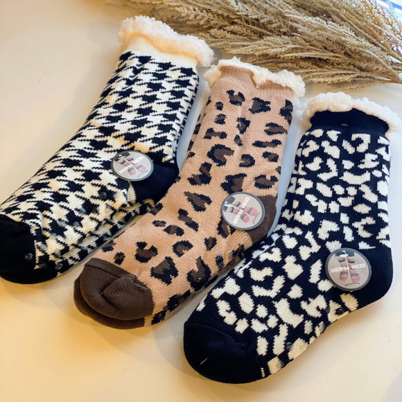 Cheetah Hide Leather Earrings