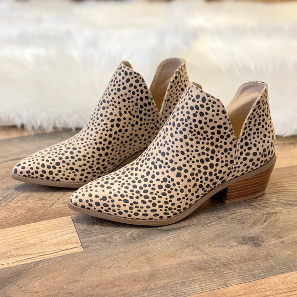Cheetah Suede Booties