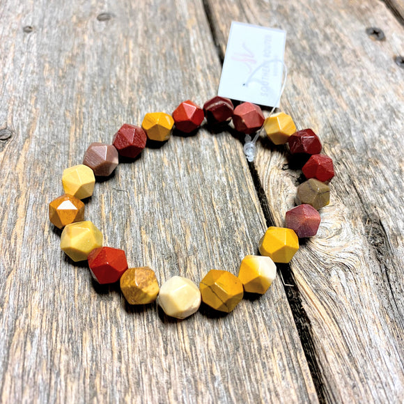 Semi Precious Stone Bracelet | Fall Leaves