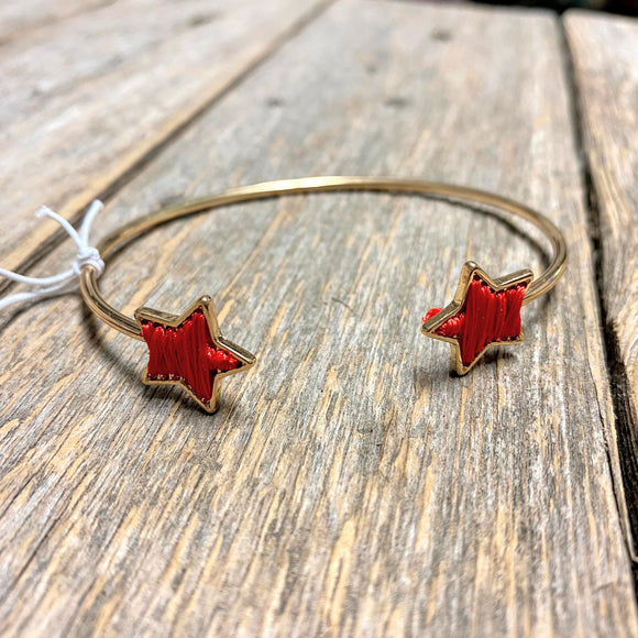 Gold+Red Star Cuff
