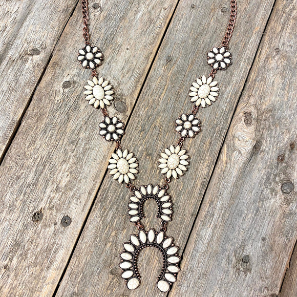 Squash Blossom Necklace | Cream