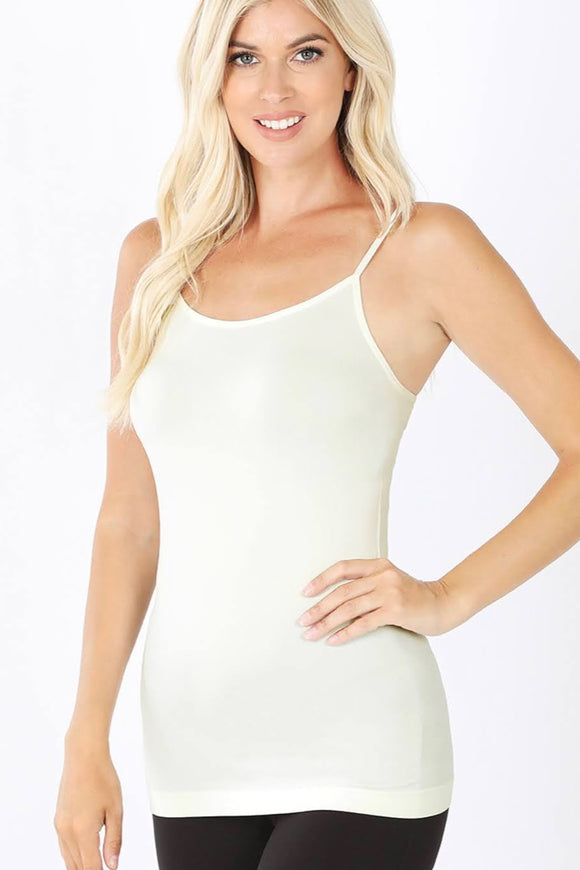 Seamless Adjustable Cami | Ivory