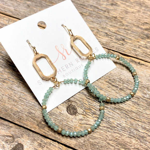 Modern Beaded Earrings | Mint