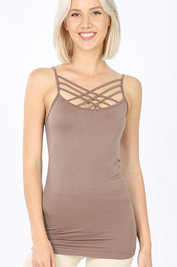 Criss-Cross Cami | Mocha
