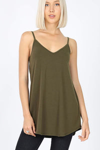 Flowy Cami | Reversible | Olive