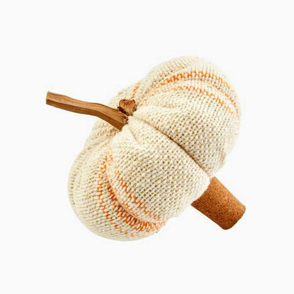 Grainsack Pumpkin Wine Stopper | Cream