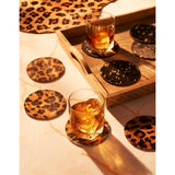Hide Coaster Set | Black+Gold