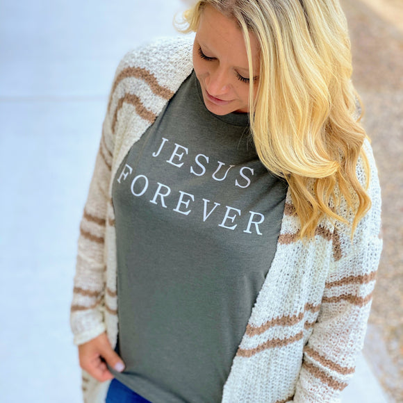 Jesus Forever Tee | Military Green