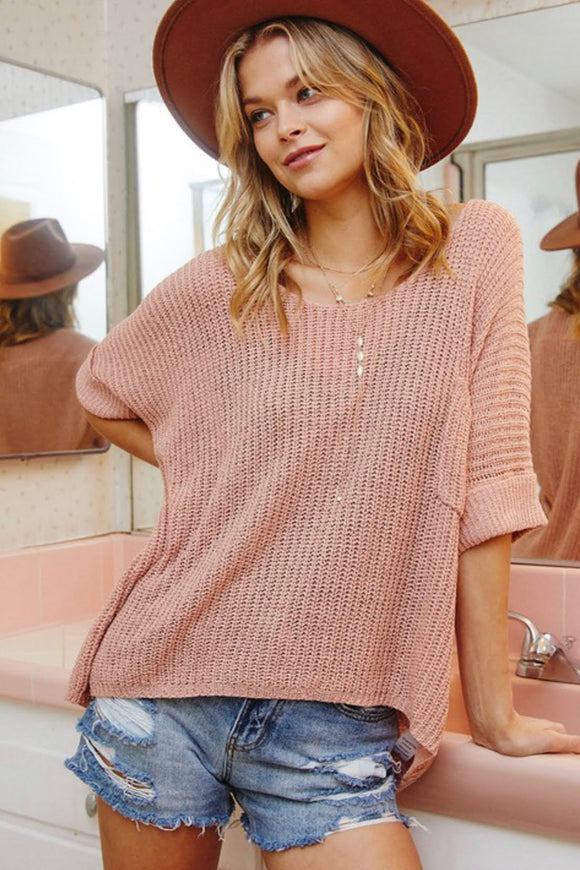 Mauve Oversized Slouchy Top