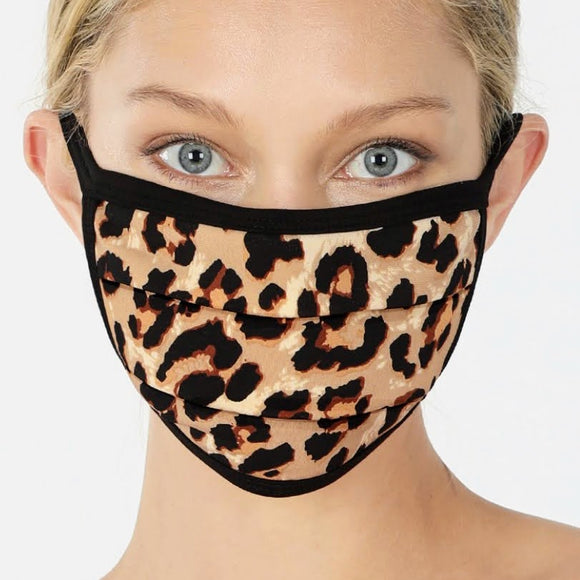 Cotton Mask | Brown Leopard
