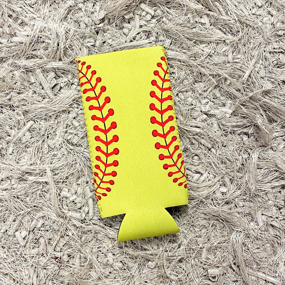 Tall Slim Can Koozie | Softball