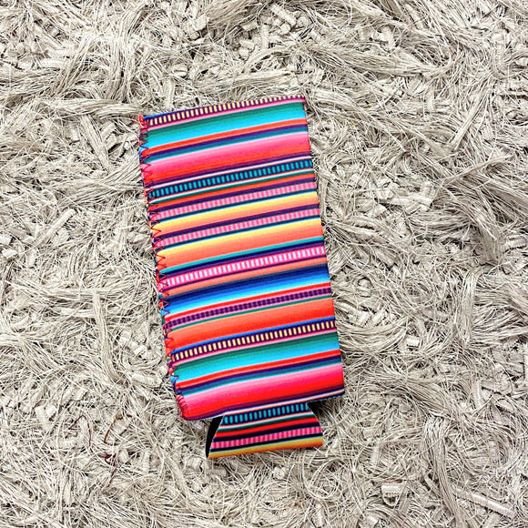 Tall Slim Can Koozie | Serape