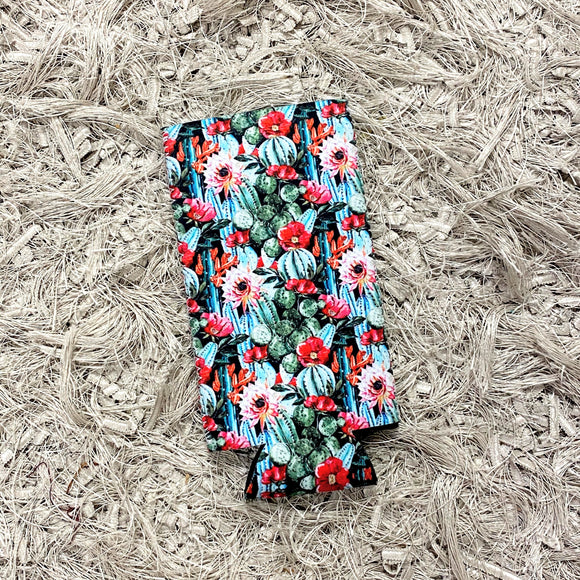 Tall Slim Can Koozie | Floral Cactus