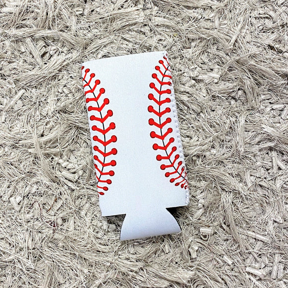 Tall Slim Can Koozie | Baseball
