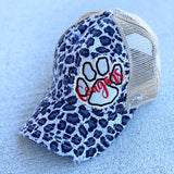 Cougars Paw | Grey Leopard | Criss Cross Cap