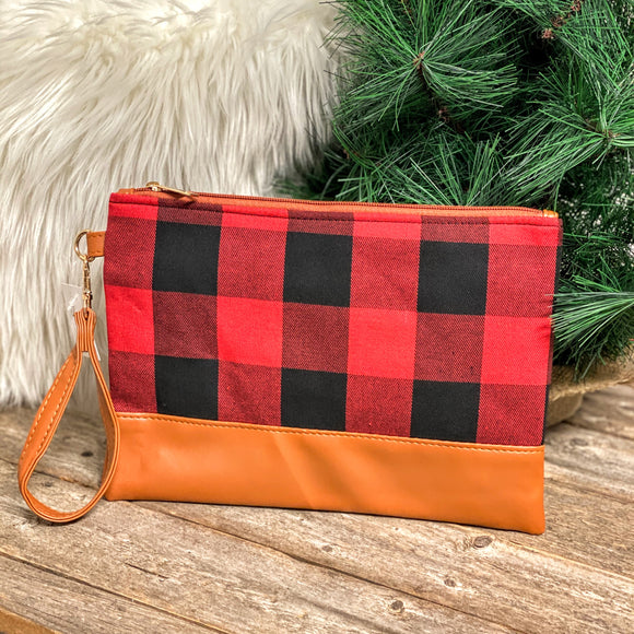 Aspen Wristlet | Buffalo Plaid