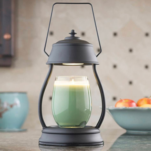 Hurricane Lantern | Lamp Candle Warmer | Black