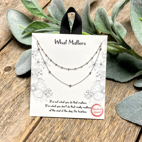 What Matters | Inspirational Necklace